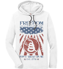 Freedom. Give me liberty or give me death. Anvil Long Sleeve T-Shirt Hoodie.