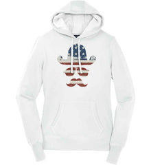 Do you even know how to Patriot Bro? Women's: Sport-Tek Ladies Pullover Hooded Sweatshirt.