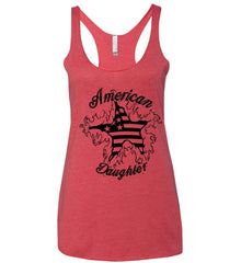American Daughter. Women's Patriot Design. Women's: Next Level Ladies Ideal Racerback Tank.