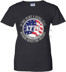 If you want a rebel flag. Nothing beats the original. Women's: Gildan Ladies' 100% Cotton T-Shirt.