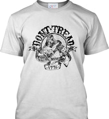 Don't Tread on Me: 1776. Black Print. Port & Co. Made in the USA T-Shirt.