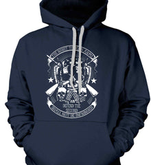 The Right to Bear Arms. Shall Not Be Infringed. Since 1791. White Print. Gildan Heavyweight Pullover Fleece Sweatshirt.