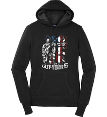 Got Your Six. Soldier Flag. Women's: Sport-Tek Ladies Pullover Hooded Sweatshirt.
