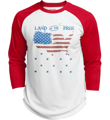 Land of the Free. Sport-Tek Polyester Game Baseball Jersey.