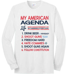 My American Agenda. Port & Co. Long Sleeve Shirt. Made in the USA..