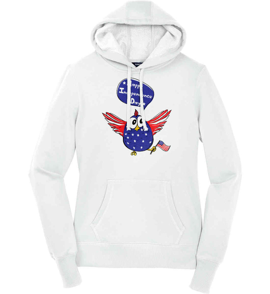 Happy Independence Day. Freedom Birdie. Women's: Sport-Tek Ladies Pullover Hooded Sweatshirt.-1