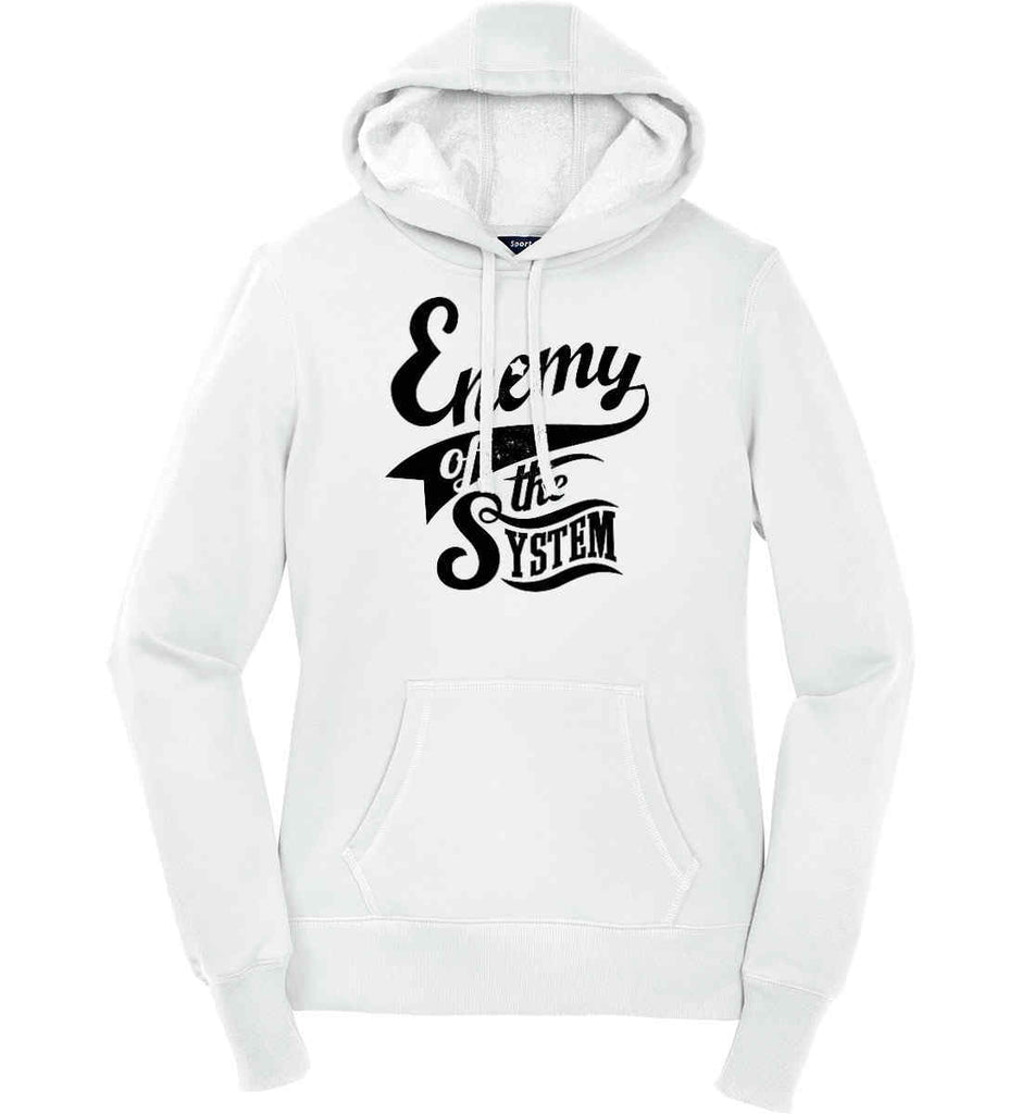 Enemy of The System. Women's: Sport-Tek Ladies Pullover Hooded Sweatshirt.-1