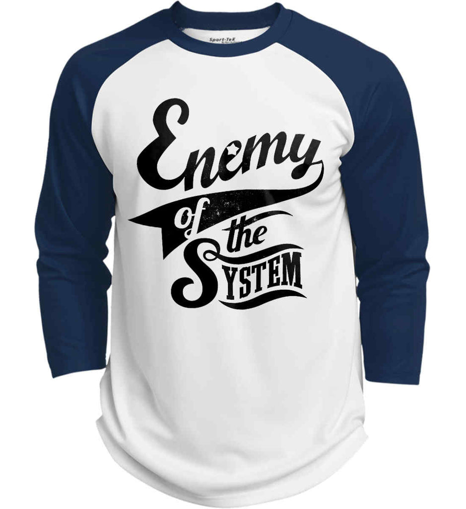 Enemy of The System. Sport-Tek Polyester Game Baseball Jersey.-5