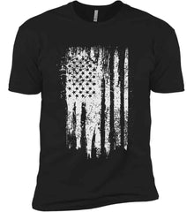 Grungy Grey USA Flag Next Level Premium Short Sleeve T-Shirt.
