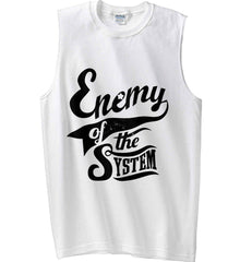 Enemy of The System. Gildan Men's Ultra Cotton Sleeveless T-Shirt.