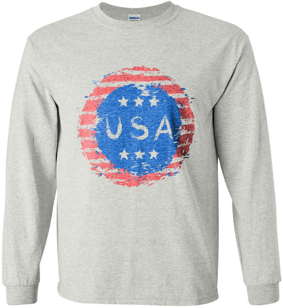 Grungy USA. Gildan Ultra Cotton Long Sleeve Shirt.-2