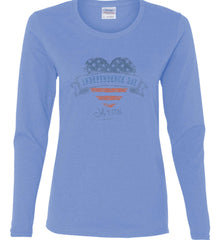 Independence Day. July, 4 1776. Women's: Gildan Ladies Cotton Long Sleeve Shirt.