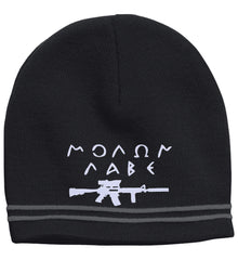 Molon Labe Rifle Hat. Sport-Tek Colorblock Beanie. (Embroidered)