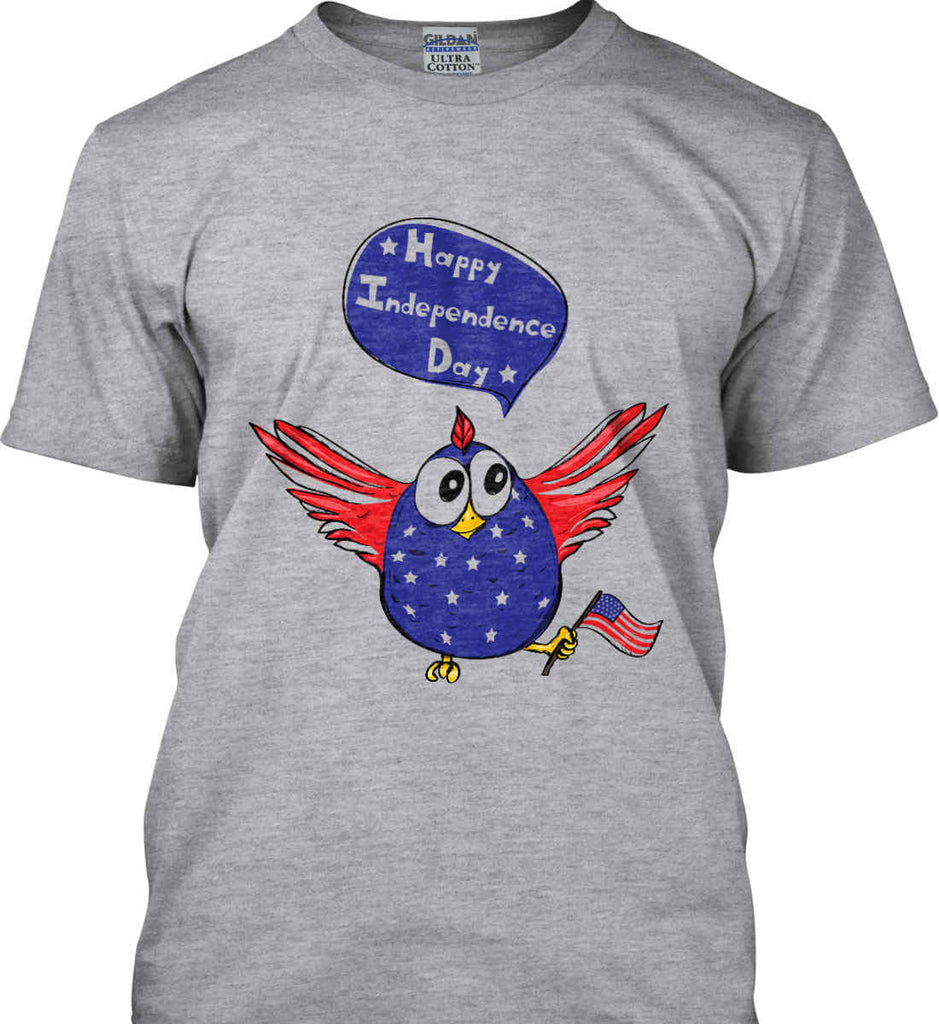 Happy Independence Day. Freedom Birdie. Gildan Tall Ultra Cotton T-Shirt.-2