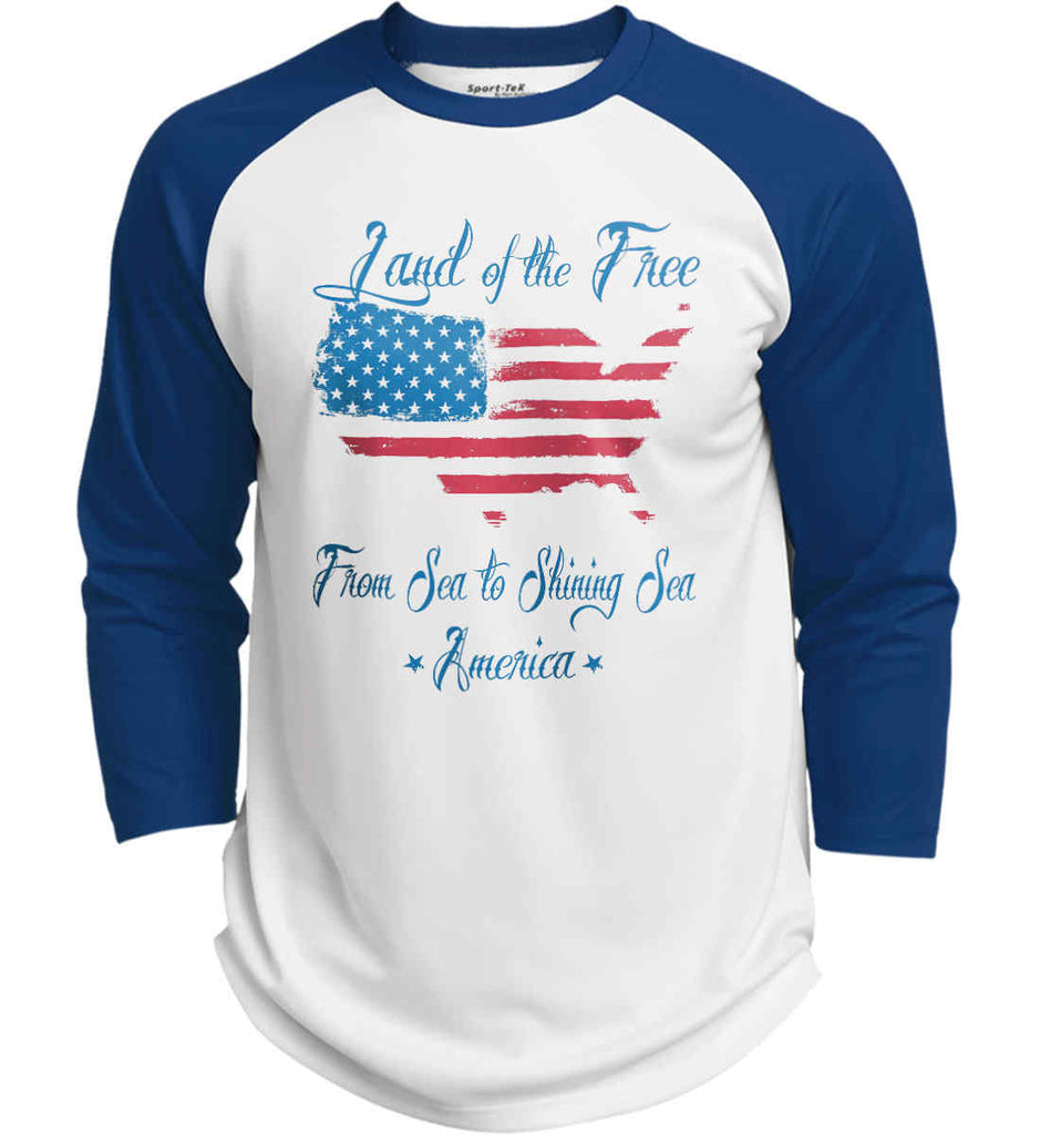 Land of the Free. From sea to shining sea. Sport-Tek Polyester Game Baseball Jersey.-6