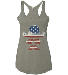 Do you even know how to Patriot Bro? Women's: Next Level Ladies Ideal Racerback Tank.