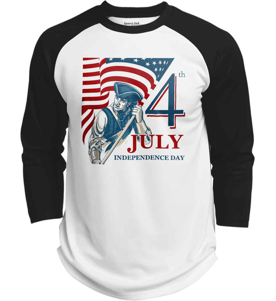 Patriot Flag. July 4th. Independence Day. Sport-Tek Polyester Game Baseball Jersey.-2
