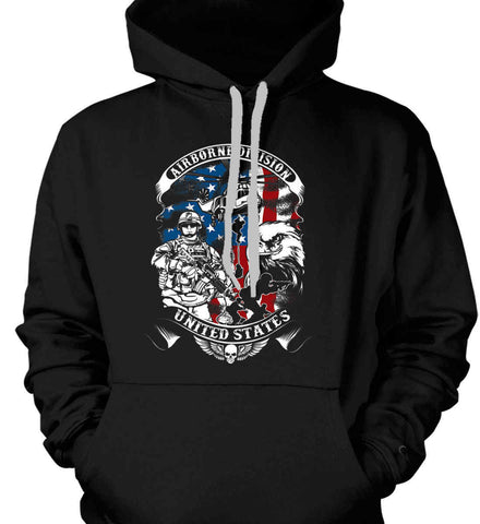 Airborne Division. United States. Gildan Heavyweight Pullover Fleece Sweatshirt.