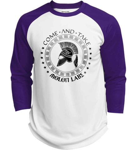 Come And Take - Molon Labe Spartan Second Amendment. Black Print. Sport-Tek Polyester Game Baseball Jersey.