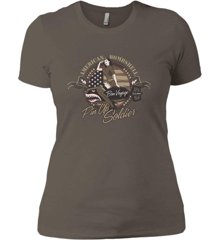 American Bombshell. Women's: Next Level Ladies' Boyfriend (Girly) T-Shirt.