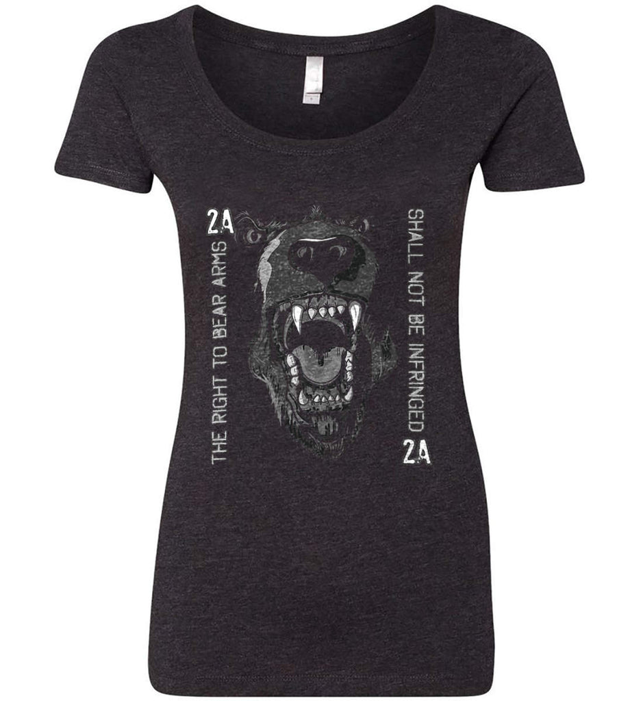 The Right to Bear Arms. Shall Not Be Infringed. Women's: Next Level Ladies' Triblend Scoop.-1