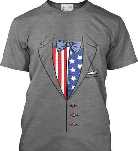American Tuxedo. Port & Co. Made in the USA T-Shirt.