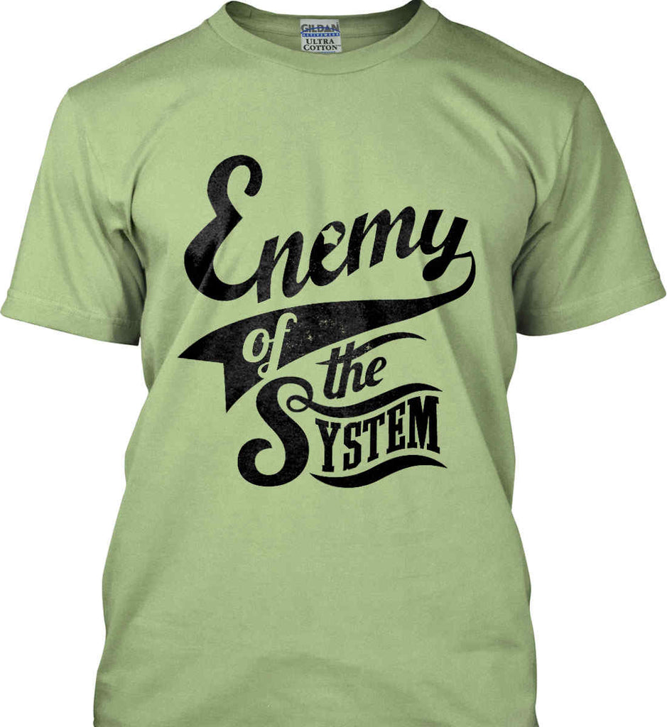 Enemy of The System. Gildan Ultra Cotton T-Shirt.-9