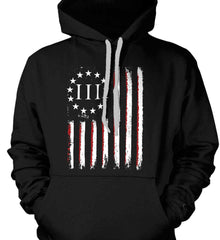 Three Percent on American Flag. Gildan Heavyweight Pullover Fleece Sweatshirt.