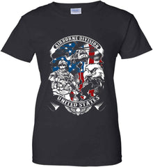 Airborne Division. United States. Women's: Gildan Ladies' 100% Cotton T-Shirt.