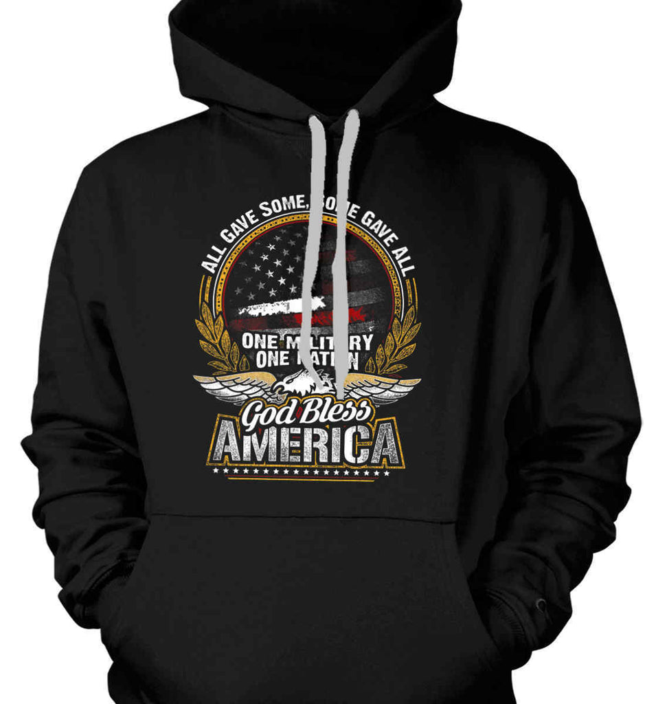 All Gave Some, Some Gave All. God Bless America. Gildan Heavyweight Pullover Fleece Sweatshirt.-1