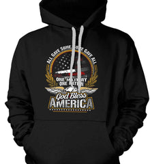 All Gave Some, Some Gave All. God Bless America. Gildan Heavyweight Pullover Fleece Sweatshirt.