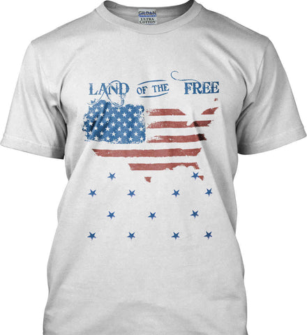 Land of the Free. Gildan Tall Ultra Cotton T-Shirt.