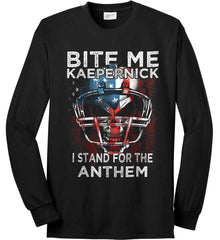 Kaepernick. I Stand for the Anthem. Port & Co. Long Sleeve Shirt. Made in the USA..