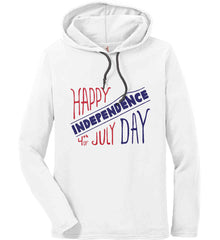 Happy Independence Day. 4th of July. Anvil Long Sleeve T-Shirt Hoodie.