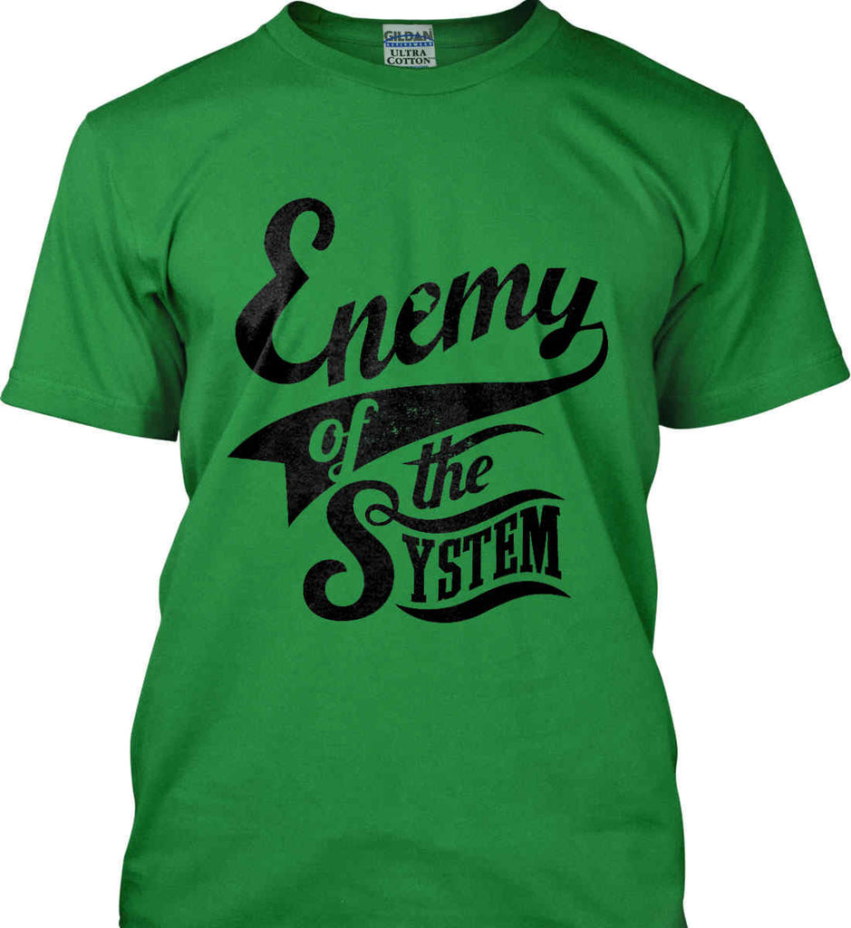 Enemy of The System. Gildan Ultra Cotton T-Shirt.-7