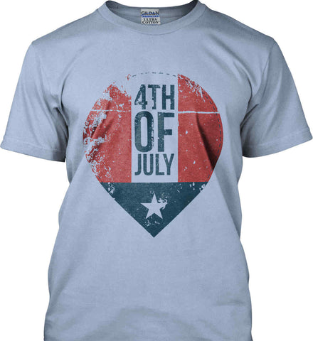 4th of July with Star. Gildan Ultra Cotton T-Shirt.