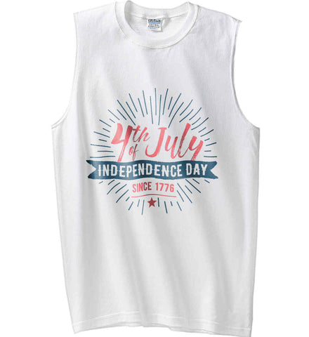 4th of July. Independence Day Since 1776. Gildan Men's Ultra Cotton Sleeveless T-Shirt.