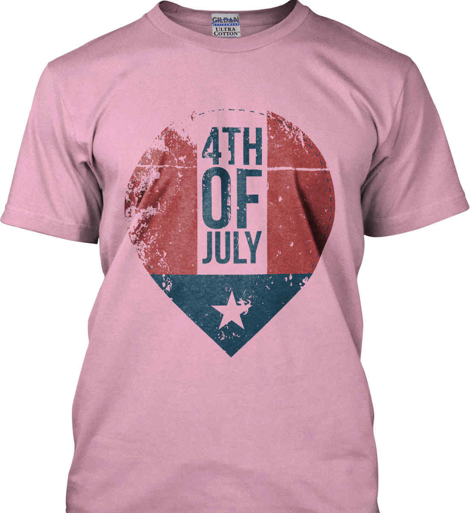 4th of July with Star. Gildan Ultra Cotton T-Shirt.-8