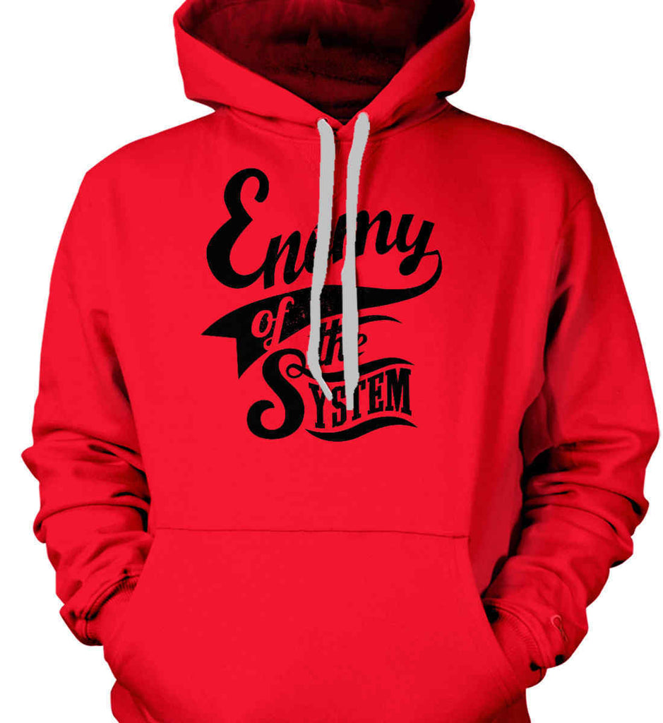 Enemy of The System. Gildan Heavyweight Pullover Fleece Sweatshirt.-3