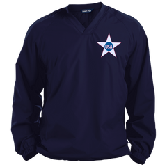 USA. Inside Star. Red, White and Blue. Sport-Tek Pullover V-Neck Windshirt. (Embroidered)