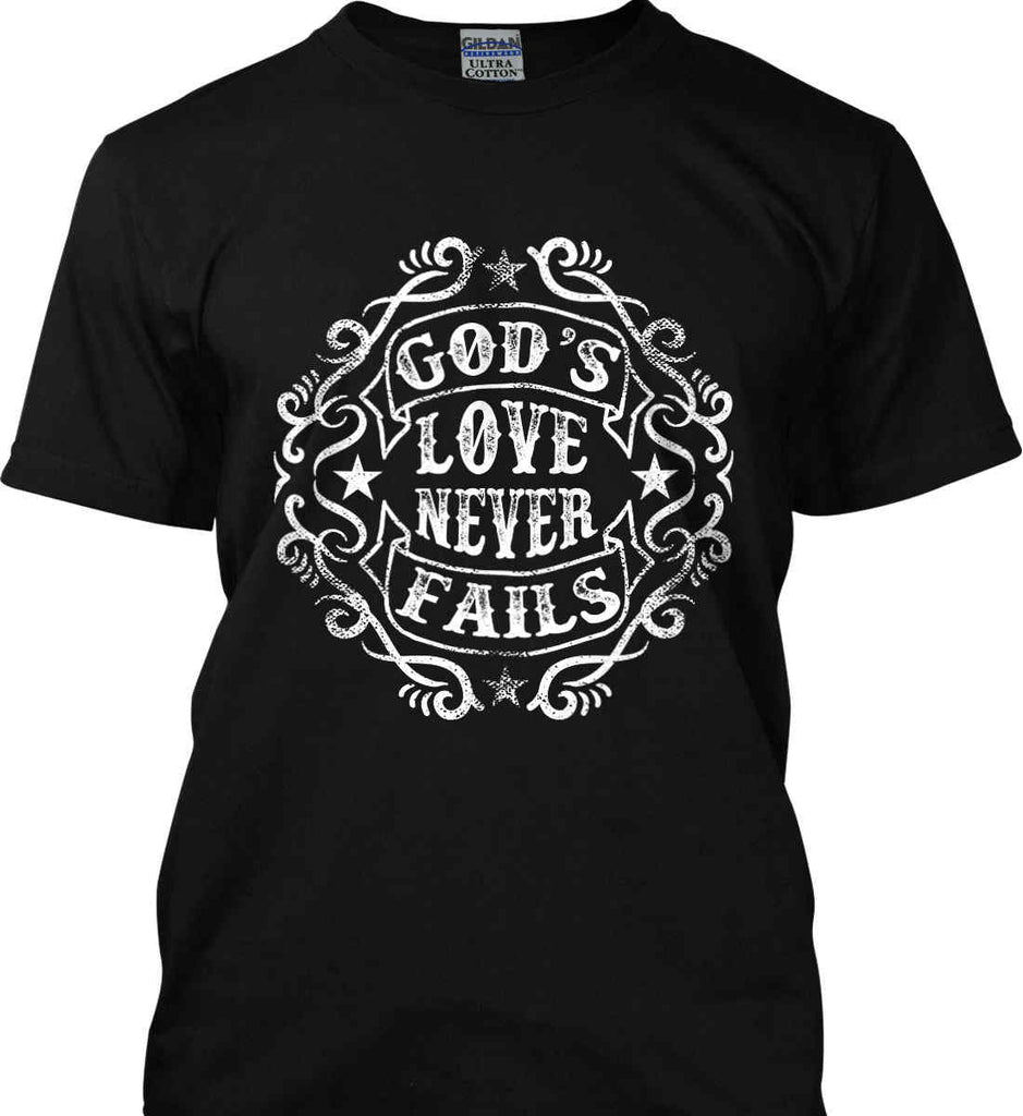God's Love Never Fails. Gildan Tall Ultra Cotton T-Shirt.-3