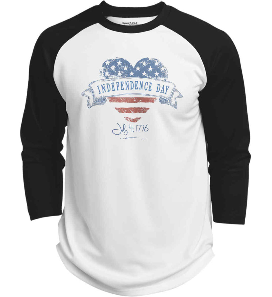 Independence Day. July, 4 1776. Sport-Tek Polyester Game Baseball Jersey.-1