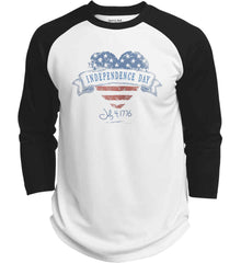 Independence Day. July, 4 1776. Sport-Tek Polyester Game Baseball Jersey.
