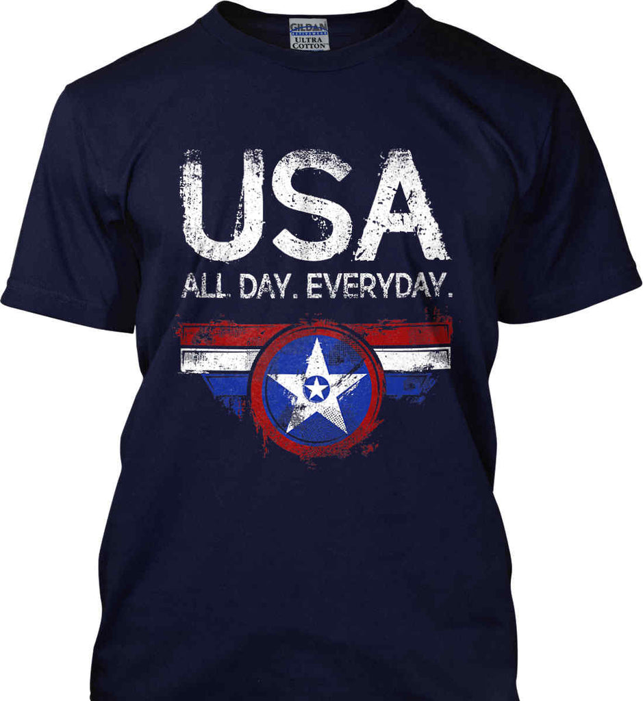 USA All Day Everyday. Gildan Ultra Cotton T-Shirt.-2