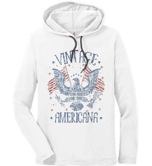 Vintage Americana Faded Grunge Anvil Long Sleeve T-Shirt Hoodie.