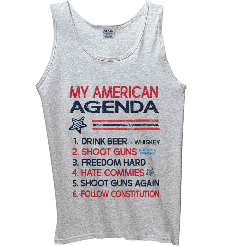 My American Agenda. Gildan 100% Cotton Tank Top.-1