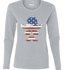 Do you even know how to Patriot Bro? Women's: Gildan Ladies Cotton Long Sleeve Shirt.
