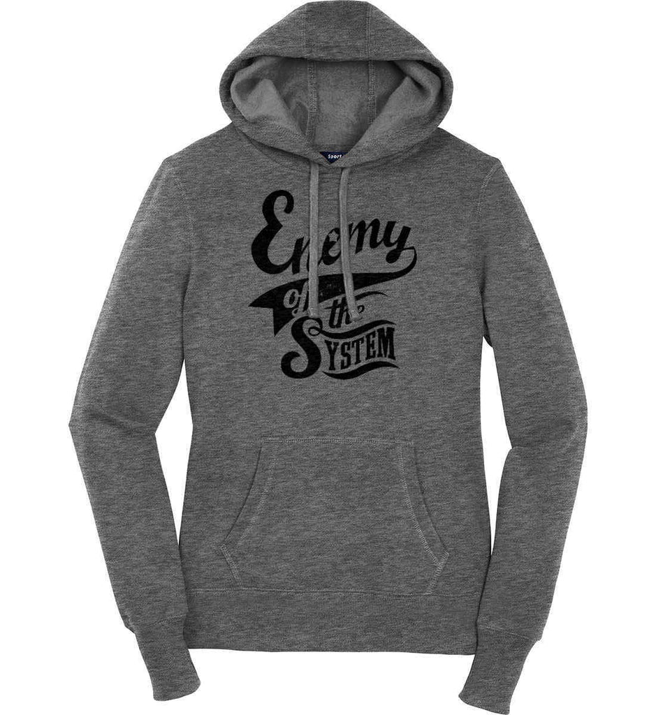 Enemy of The System. Women's: Sport-Tek Ladies Pullover Hooded Sweatshirt.-3