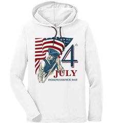Patriot Flag. July 4th. Independence Day. Anvil Long Sleeve T-Shirt Hoodie.
