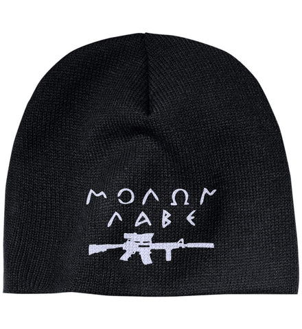 Molon Labe Rifle Hat. 100% Acrylic Beanie. (Embroidered)